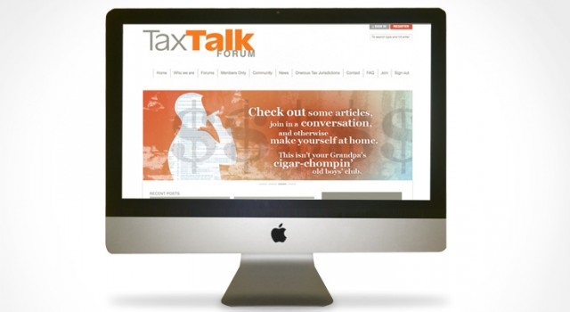 Tax Talk Forum: Branding and Web Design
