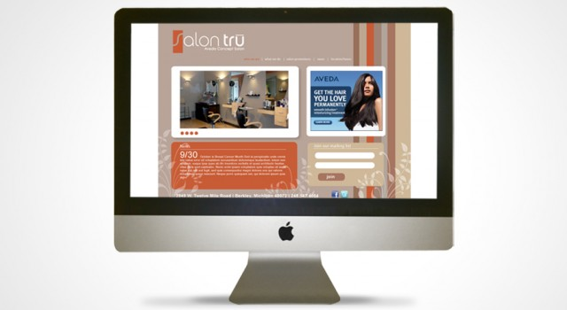 Salon Tru Logo and Website